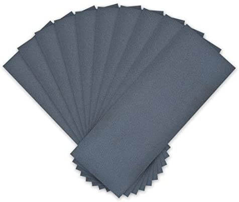10 pieces 400 Grains Dry assortment dry sandpaper waterproof 3.6 inch X 9 inch abrasive paper sheets for wood furniture Metal Polished automotive Blue
