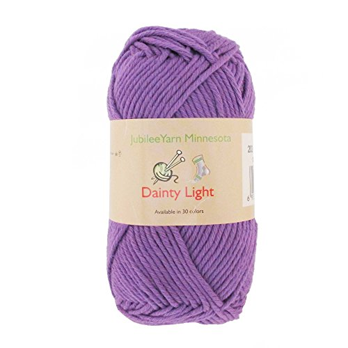 JubileeYarn Medium Gauge Worsted Weight Yarn - Dainty Light - 2 Skeins - 100% Cotton - Lilac Spray - Color 202 ()