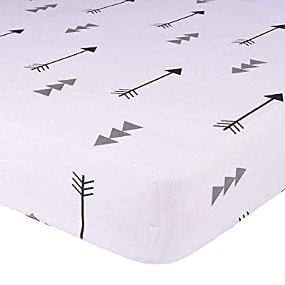 """Kyapoo Fitted Crib Sheets 100% Cotton Made Baby Mattress Cover for Toddler Girl & Boy -Soft Breathable 52""""x28"""""""