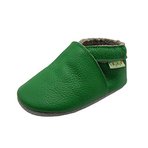 Sayoyo Suaves Zapatos De Cuero Del Bebé Zapatillas Verde