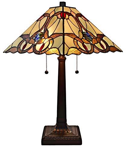 (Amora Lighting AM341TL14 Tiffany Style Geometric Mission Table Lamp, Multicolor)