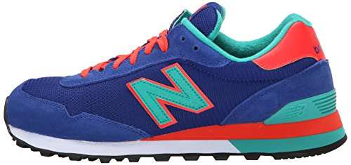 adc260d326862 New Balance Women's WL515 Modern Classics Running Shoe, Blue/Green/Orange, 8