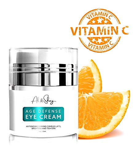 Ali & Shay Age Defense Eye Cream - Natural & Organic Anti Aging Wrinkle Treatment - Vitamin C + E + Retinol + Hyaluronic Acid - Face Moisturizer to Repair Dark Circles, Bags, Wrinkles & Puffy Eyes