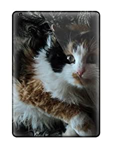 High Quality Shock Absorbing Case For Ipad Air-cat With Wild Hair
