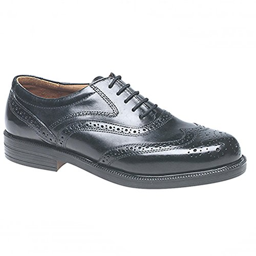 mens ampia Fit Scimitar Formal Lace Up Brogue scarpe Black
