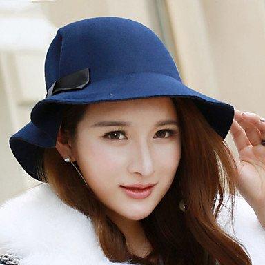 GSM-Caps @ Women 's Autumn Winter Bowknot Cashmere Pure Color Homburg Cap Bucket Hat ONESIZE-BLACK