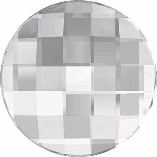 2035 Swarovski Nail Art Gems & Flatback Crystal Shapes Chessboard Circle | Crystal Comet Argent Light V | 30mm - Pack of 12 (Wholesale) | Small & Wholesale Packs