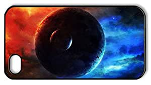 Hipster iPhone 4S cover spec red blue nebula glow PC Black for Apple iPhone 4/4S