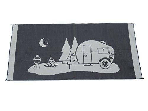 Snowbird Light Reversible Mat- Happy Camping (8 ft. x 18 ft.)