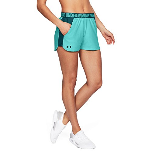 Under Armour Women's Play Up Shorts 2.0, Tropical Tide (425)/Tourmaline Teal, Small