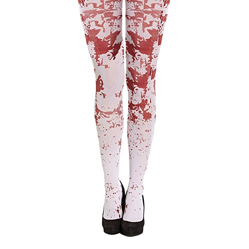 White Blood Splattered Tights Halloween Fancy Dress Accessory]()