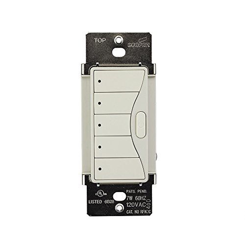 (Eaton's Wiring Devices RFWC5DS Aspire 120 V/AC Wallmount 5-Scene Keypad, Decorative White)