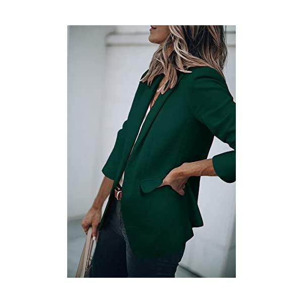 Womens Casual Blazers Open Front Long Sleeve