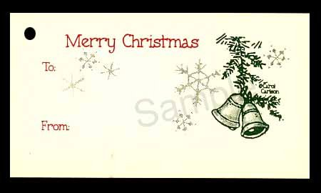 (15 Tags) COUNTRY CHRISTMAS BELLS GIFT TAGS & STRINGS. HAPPY HOLIDAYS. TO: FROM: HANG TAGS