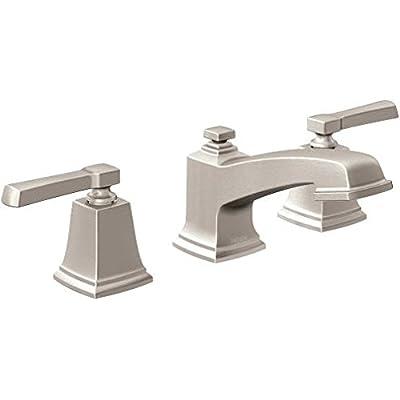 BOARDWALK 2H WS TRIM SRN / Spot resist brushed nickel two-handle bathroom faucet