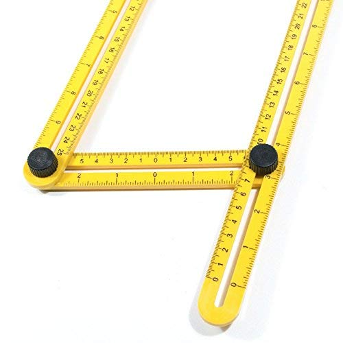 isasar ajustable multi-/ángulo de plantilla escala regla cuatro lados plegable herramienta de medici/ón