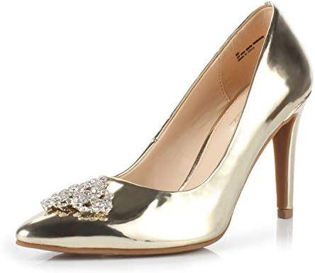 Dunion Women S Appoint Pointed Toe High Heel Stiletto Dress Pump