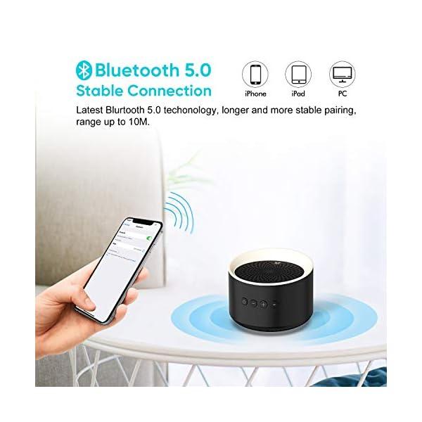 Enceinte Bluetooth Portable TWS AXLOIE Haut-parleur Bluetooth 5.0 sans Fil Basse Profonde Stéréo HiFi pour Carte TF / AUX Appels Mains Libres Micro Intégré 10H de Lecture pour iOS Android Tablette etc 4
