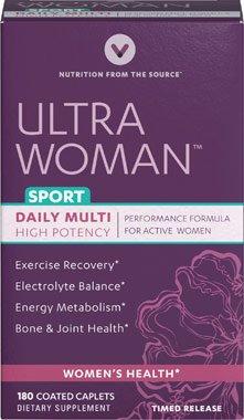 Vitamin World Ultra Woman Sport Daily Multi Vitamin, 180 Coated Caplets