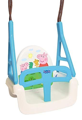 Babyschaukel 3 in 1 Original TegaBaby® mit Peppa Wutz Motiv Kinderschaukel Schaukelsitz bis 30kg TÜVRheinland geprüft