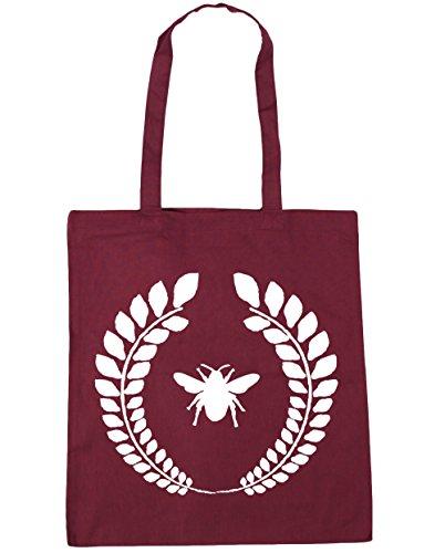 HippoWarehouse Bumble bee reef Tote Shopping Gym Beach Bag 42cm x38cm, 10 litres Burgundy