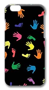 Hand And Footprints Polycarbonate Hard Case Cover for ipod touch4 inch 3D