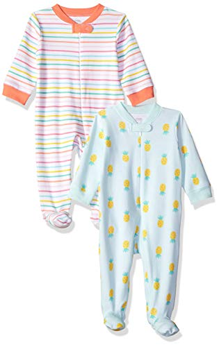 Amazon Essentials Baby Girl's 2-Pack Sleep and Play