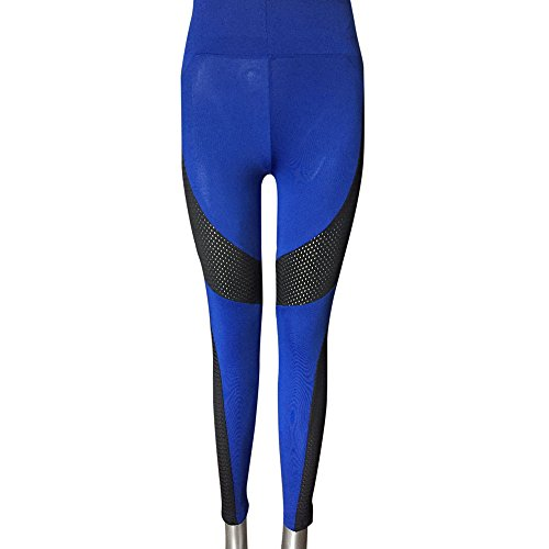❤️❤️AOmahh❤️❤️ Women's High Waist Sports Gym Yoga Pants,Stitching Long Section Stretch Leggings Yoga Pants Sports Pants Trouser (S, Blue) by ❤️❤️AOmahh❤️❤️ (Image #4)
