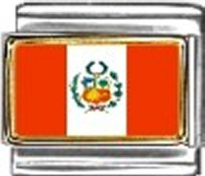 Peru Photo Flag Italian Charm Bracelet Jewelry - Charm New 9mm Photo Italian