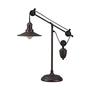 Signature Design by Ashley L734152 Adjustable Kylen Desk Lamp with Metal Shade with in-Line Switch, Bronze Finish