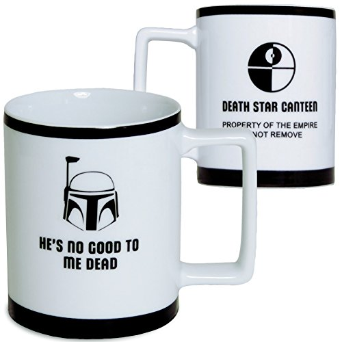 Star Wars Mug - Boba Fett Imperial Porcelain Coffee Cup - 10 oz