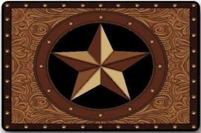 Custom Texas West Star Airbag  Entrance Pad Carpet Interior   Outdoor   Door   Bathroom 100  Pure Natural Rubber  Tpr Fabric  23 6   L  X 15 7   W   5 16  Thick