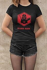 Camiseta Baby Look Dark Side Feminino Preto