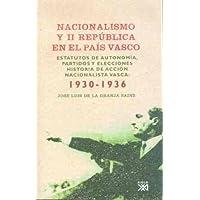Nacionalismo y II República en el País Vasco: Estatutos de autonomía, partidos y elecciones. Historia de Acción…