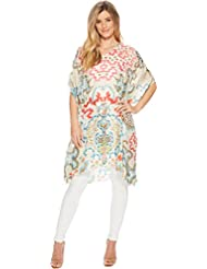 Johnny Was Womens Mosaic Poncho
