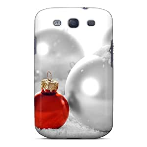 High Quality EizJqUe2454noMQY Christmas And Happy New Year Red And White Christmas Balls Tpu Case For Galaxy S3