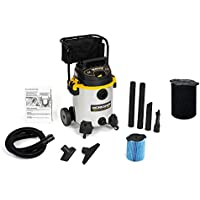 WORKSHOP Wet/Dry Vacs WS1600SS Heavy Duty Stainless Steel Wet Dry Shop Vacuum with Cart Bundle