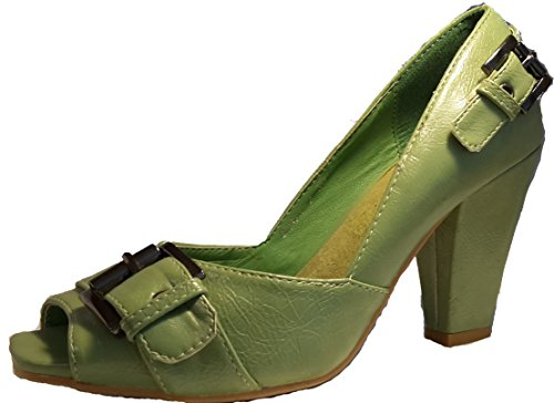 3-W-Hohenlimburg - Zapatos de vestir para mujer Grün.