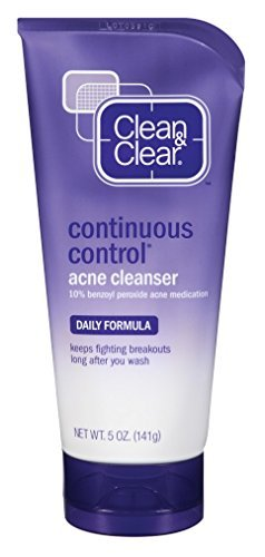 Clean & Clear Cleanser Acne Continuous Control 5 Ounce (148ml) (2 Pack) Clean Clear Continuous Control Acne Wash