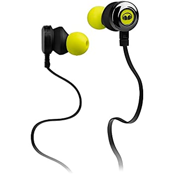 b7bd8945568 Monster Clarity HD in-Ear Earbud Headphones Mic, in-Line Controls Noise  Isolation, High Performance Earbuds, Neon Green (Non-Retail Packaging)