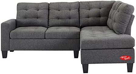 Amazon.com: Sectional Sofa with Chaise 3 Piece Reversible ...