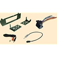 BMW Z4 2003 2004 2005 2006 2007 2008 2009 2010 2011 2012 Stereo wiring Harness, Dash Install Kit Faceplate, with FM Antenna Adaptor (Combo Complete Aftermarket Stereo Wire and Installation Kit)