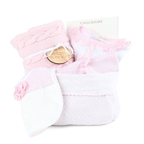 Oliver and Adelaide American Made Crib to Cafe-4 Pc Gift Set, Pink, 0-6 Months
