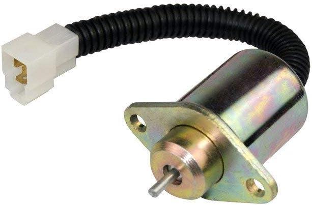 Vlemba 12V Fuel stop solenoid 1503ES-12A5UC5S for Kubota Yanmar Synchro Start SA4569T