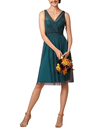 Knee Women's V AK Neck Beauty Length Dress Prom Green xBqWTIpwaW