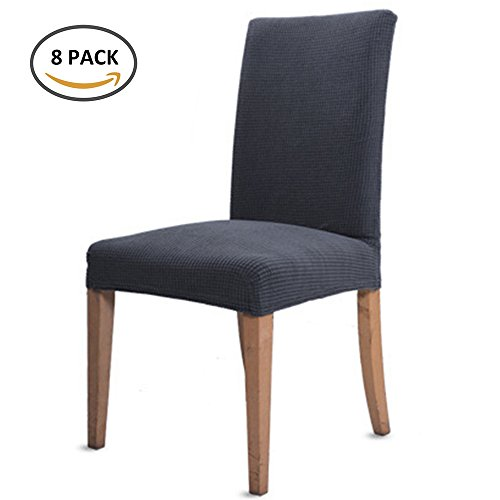 - Interlink Dining Room Stretch Chair Covers Chair Slipcovers Spandex Removable Washable Seat Protector Non-Slip Home Hotel Banquet Ceremony Wedding Banquet Party Decoration