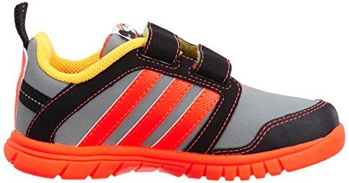 adidas Originals, Sneaker bambini grau / rot / schwarz 5.0K UK - 21.0 EU