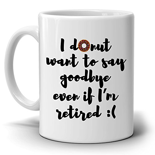 Funny Humorous Gifts Coffee Mug for Retired Coworkers, Perfect Retirement Gift Ideas for Boss, Printed on Both Sides! Christmas Party Invitation Wording Religious