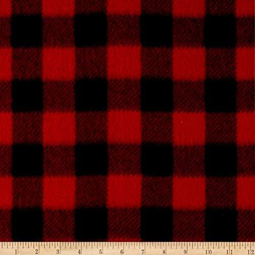 Baum Textiles Winter Fleece Buffalo Plaid Red Yard ()