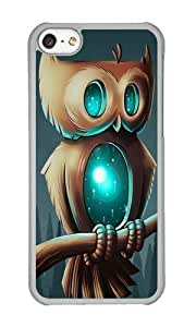 linJUN FENGApple iphone 4/4s Case,WENJORS Awesome Night Owl I Hard Case Protective Shell Cell Phone Cover For Apple iphone 4/4s - PC Transparent